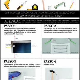 Manual de instalação Cortina Rolô com Barra Estabilizadora Persianas Crisdan